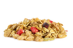 Organic Cereal with Dried Fruit Royalty Free Stock Photo