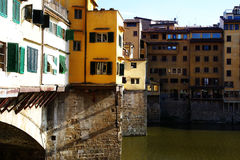Side view of Ponte Vecchio in Florence Italy Royalty Free Stock Photos