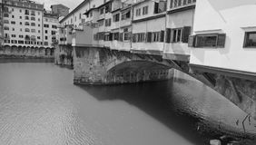 Ponte Vecchio, Florence. Side view of Ponte Vecchio in Florence, Italy Royalty Free Stock Photo