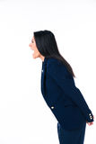 Side view portrait of a businesswoman screaming Royalty Free Stock Photo
