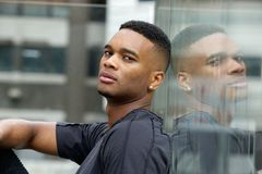 Side view portrait of a cool black guy. Close up side view portrait of a cool black guy Royalty Free Stock Photography