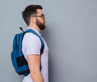 Side view portrait of a male nerd Stock Photography