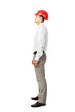 Side view portrait of young engineer Stock Photography