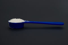 Side view powdered milk Royalty Free Stock Photos
