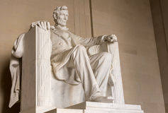 Side view of President Lincoln statue Royalty Free Stock Image