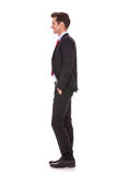 Side View Profile Of A Well Dressed Business Man Stock Photography