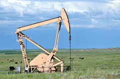 Side view of a pump jack Stock Image
