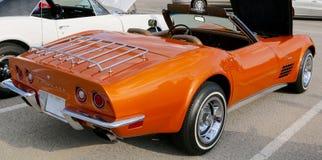 Side view of Rare Burnt Orange Corvette Sting Ray Stock Photos