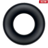 Side view of Realistic rubber tire symbol. Vector Royalty Free Stock Photos