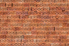 Side view red construcion brick texture Stock Photography