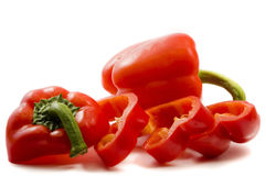 Side view of red peppers Stock Photography