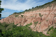 Side view of the the Red Ravine from Sebes. Royalty Free Stock Images