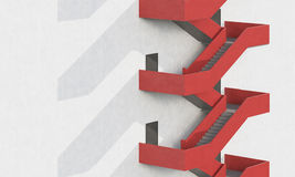 Side view of red stairs Stock Photography