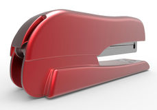 Side view - red stapler Stock Image