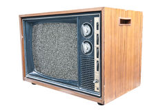 Side view of retro TV Royalty Free Stock Image