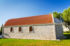 Side view for Rhodes small church Stock Images