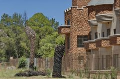 Side view at rooms with balcony of Chateau de Nates, South Africa Stock Image