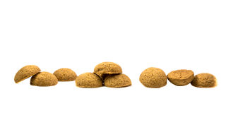 Side view Row of Pepernoten cookies Royalty Free Stock Photo