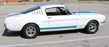 Side view of a 1960's model Ford mustang Stock Images