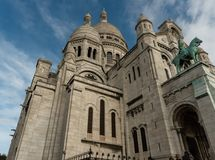 Side view of the Sacre Couer Basilica in Paris, France Stock Images