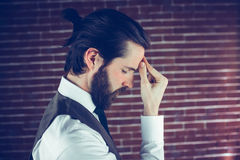 A Side view of a sad man Stock Photography