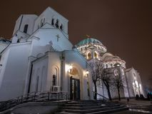 Saint sava side view. Royalty Free Stock Image