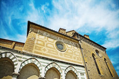 Side view of Santa Maria Novella cathedral in Florence Royalty Free Stock Photography