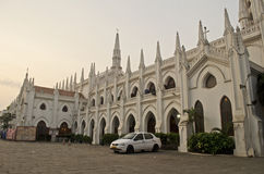 Side view of Santhome Basilica cathedral church,Chennai,Tamil Nadu,India Stock Photography