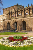 Side View of SemperOper Royalty Free Stock Photo