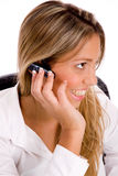 Side view of service provider with bluetooth Royalty Free Stock Image