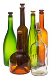 Side view of several empty closed wine bottles Royalty Free Stock Photography
