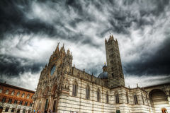 Side view of Siena Duomo Royalty Free Stock Images