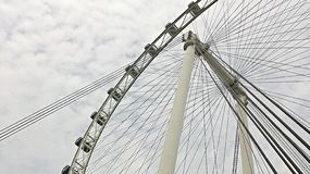 Side view of Singapore Flyer taken from below Royalty Free Stock Photos