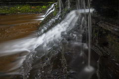 Side view of small cascade. At Wolf Creek royalty free stock image