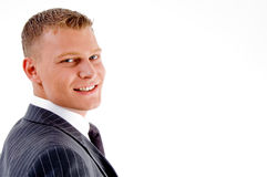 Side view of smiling businessman Royalty Free Stock Photos
