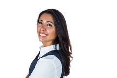 Side view of a smiling woman Stock Image