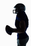 Side view of sportsman holding football Royalty Free Stock Photo