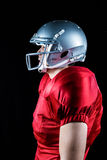 Side view of sportsman standing Royalty Free Stock Images