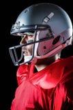 Side view of sportsman wearing helmet Stock Images
