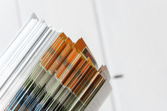 Side view of a stack of magazines Stock Photography