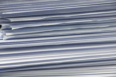Side view of stack of office paper. Can used as background or texture Royalty Free Stock Image
