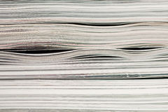 Side view of stack of papers Royalty Free Stock Images