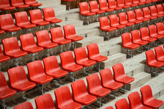 Side view stadium seats Stock Images