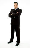 Side view of standing adult ceo looking at camera Royalty Free Stock Images