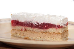 Side view of strawberry cake with white cream Royalty Free Stock Photo