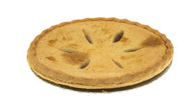 Side view of a sugar free apple pie Royalty Free Stock Photos