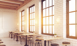 Side view of sunlit bar Stock Images