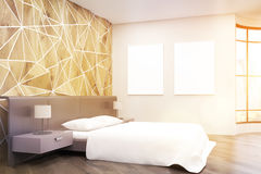 Side view of sunlit bedroom Stock Photography