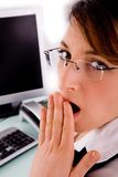 Side view of surprised executive Royalty Free Stock Image