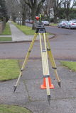 Side View of Surveyor's Prism Royalty Free Stock Images